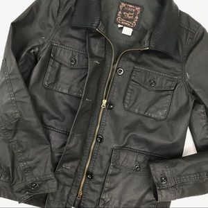 J. Crew Washed & Aged Almost Black Utility Jacket